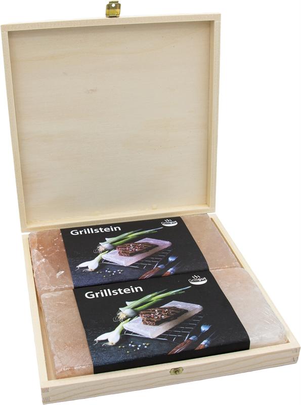 Grill Holzbox 1 (2 Grillsteine)