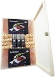 Grill Holzbox 5 (2 Grillsteine, 3 Taschenmühlen und 8 Grillanzündern)